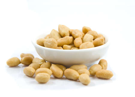 Salted peanuts. Nuts in a Small Bowl Stock Photo