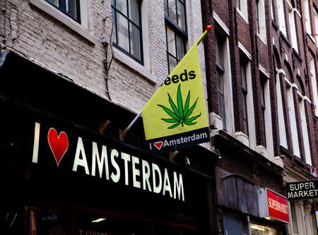 stoned: amsterdam coffeeshop Stock Photo