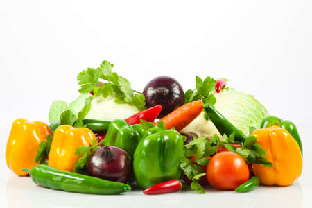 bolter: Fresh vegetable isolated on white background.  Healthy Eating. Seasonal organic raw vegetables.