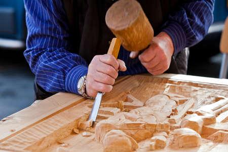 falegname: Sgorbia scalpello da legno strumento falegname Archivio Fotografico