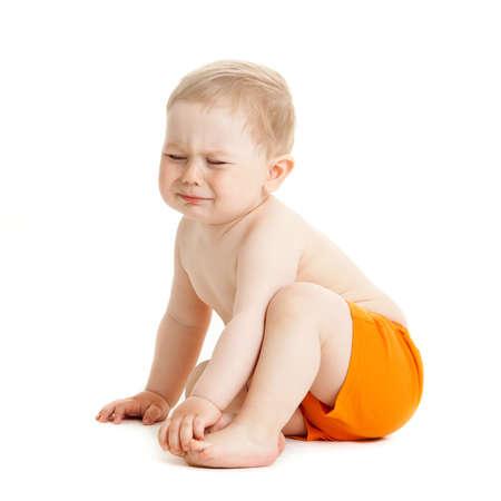 bambino che piange: pianto del neonato isolato.