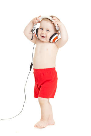 baby with headphone photo