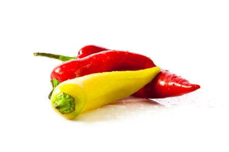 Paprika (pepper) isolated on a white background photo