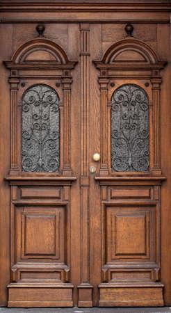 wooden door: Wooden front door of a home. Old Wooden Door.