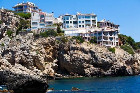 spanish houses: Beautiful spanish houses  Modern resort Stock Photo