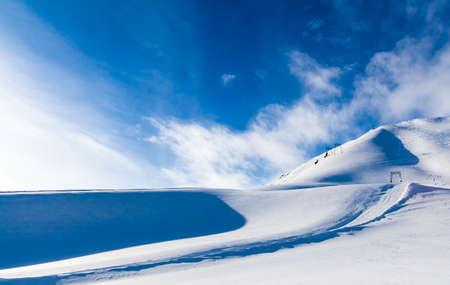 Snow Mountain. mountains under snow in the winter photo