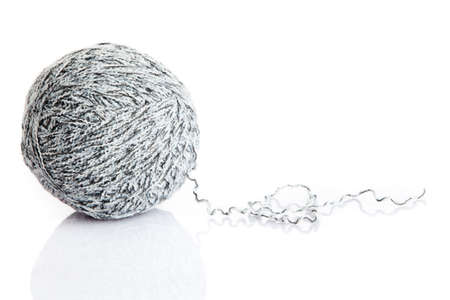 weave ball: ball of yarn on white background