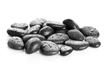 Massage aux pierres noires isolés Banque d'images - 23144764