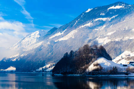 Winter in the swiss alps. photo
