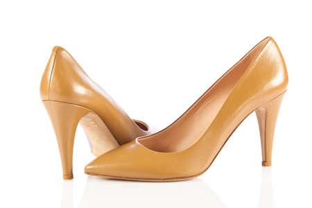 opentoe: women shoes on white  Stock Photo