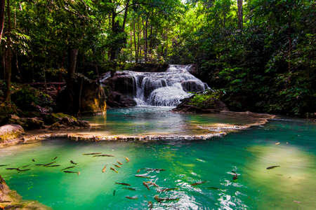 Erawan Waterfall, Kanchanaburi, Thailand. photo