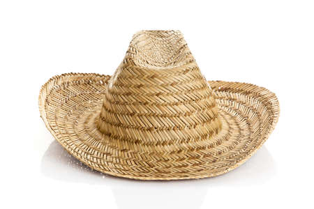 straw hat isolated on a white background photo