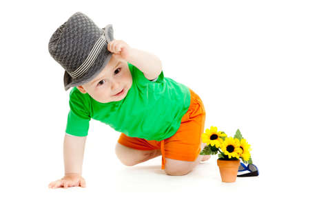 baby boy isolated. photo