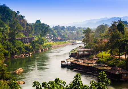 house float on water: River Kwai Stock Photo