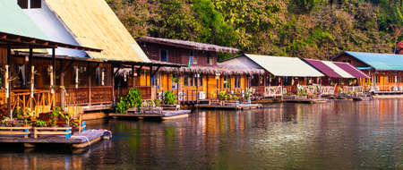 ponton: River Kwai Stock Photo