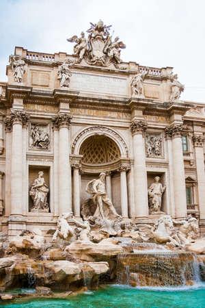 bernini: Fountain di Trevi in Rome, Italy Stock Photo