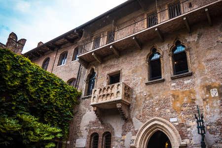 Balcony of Romeo and Juliet in Verona, Italy. Romeo and Juliet balcony in Verona