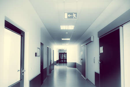 hospital corridor. hospital hallway. hospital interior photo