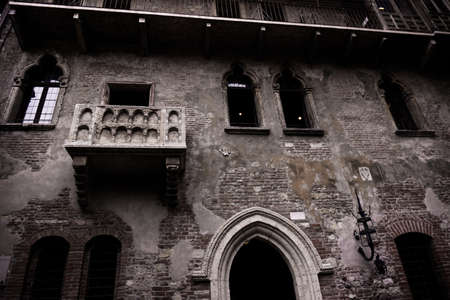 romeo and juliet: Balcony of Romeo and Juliet in Verona, Italy. Romeo and Juliet balcony in Verona