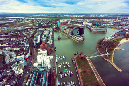 dysentery: dusseldorf aerial view Stock Photo