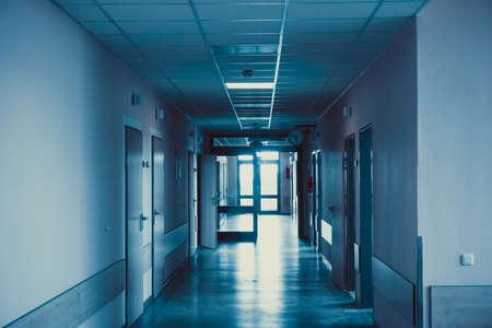 ziekenhuisgang. ziekenhuis hal. ziekenhuis interieur