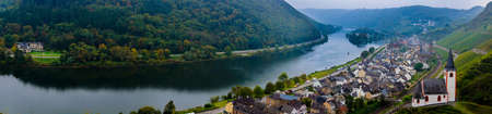 mosel: Panoramic view of the river Moselle (Mosel) Stock Photo