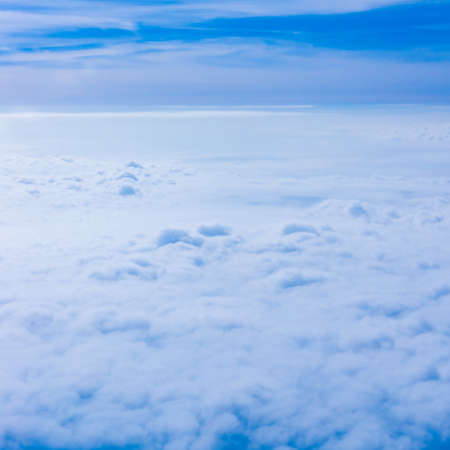 aileron: Clouds from an Airplane Window. Sky and clouds. Plane view from the window