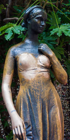 juliets: Statue of juliet in verona, italy. The Juliets statue at Juliets house is one of the most popular and symbolic tourist attractions in Verona, Italy.