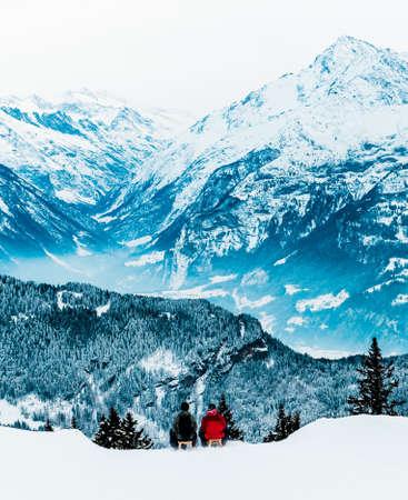 winter people: Winter in the swiss alps