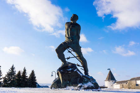 The monument to Musa Dzhalil, poet, hero of the Soviet Union. Kazan, Russia photo