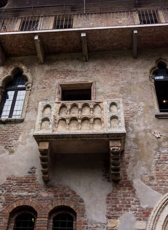 juliets: The famous balcony of Romeo and Juliet in Verona, Italy. Juliets balcony