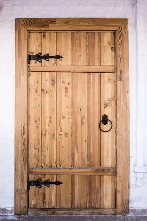 Front Door.  Wood door photo