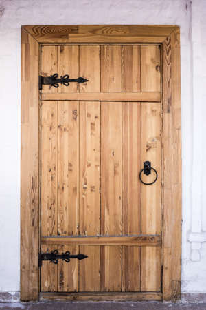 view of a wooden doorway: Front Door.  Wood door
