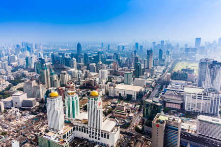 City town, View Point on top of building, Bangkok, Thailand. City LandScape of the Bangkok 新闻类图片