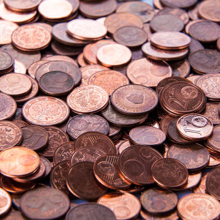 cents: Coins background. euro coins. cent coins. euro cents