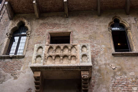 romeo: The famous balcony of Romeo and Juliet in Verona, Italy. Juliets balcony