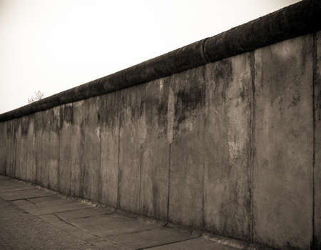 limitation: Remains of the Berlin Wall. Stock Photo