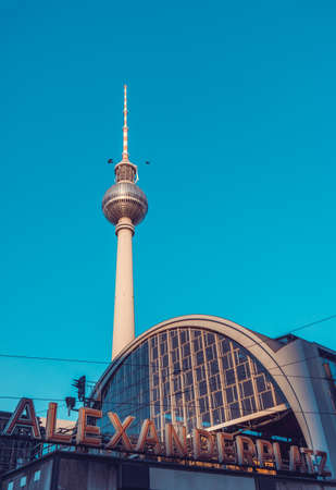 Railroad station Alexanderplatz in Berlin, Germany