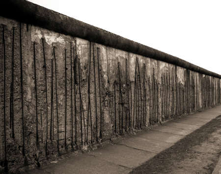 mauer: Remains of the Berlin Wall. The Berlin Wall (Berliner Mauer) in Germany
