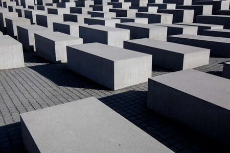 murdered: BERLIN, GERMANY - MARCH 22: Memorial to the Murdered Jews of Europe in Berlin on March 22, 2015. Its a memorial in Berlin to the Jewish victims of the Holocaust.
