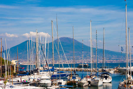 seaports: NAPLES, ITALY - SEPTEMBER 07: The Port of Naples being one of the largest Mediterranean seaports has an annual traffic capacity of around 25 million tons of cargo on September 07, 2010 in Naples