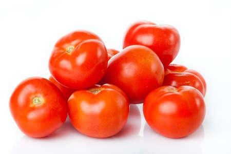 cantle: fresh tomatoes isolated on white background Stock Photo