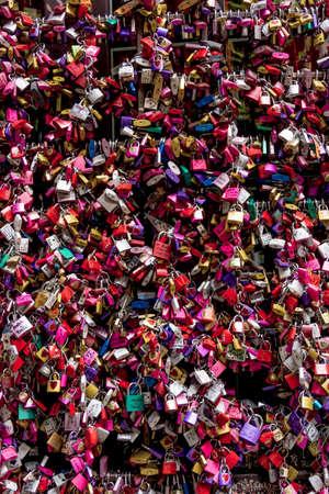 juliet: Symbols of love in Verona, Juliet yard, Italy, Stock Photo