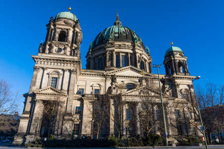 evangelical: Berlin Cathedral (Berliner Dom)  Evangelical neo-renaissance cathedral Stock Photo