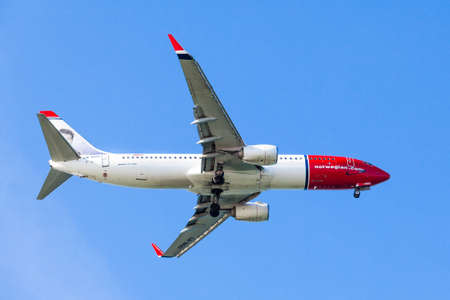 jetplane: FARO,PORTUGAL-MAY 09:Airliner of Norwegian air shuttle at Faro International Airport, May 09, 2015 in Faro, Portugal.Norwegian is the third largest low-cost carrier in Europe
