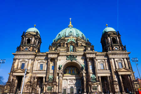 dom: Berlin Cathedral (Berliner Dom) famous landmark in Berlin City, Germany Stock Photo
