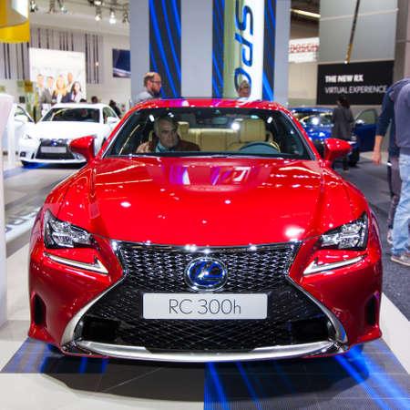lexus: FRANKFURT, GERMANY - SEPTEMBER 23, 2015: Frankfurt international motor show (IAA) 2015. Lexus RC 300h - European premiere