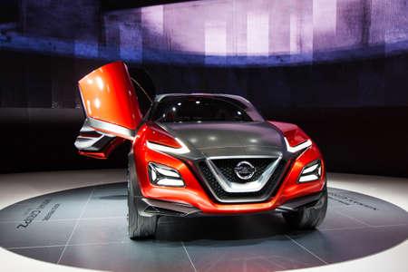 nissan: FRANKFURT, GERMANY - SEPTEMBER 23, 2015: Frankfurt international motor show (IAA) 2015. Nissan Gripz Concept - world premiere Editorial