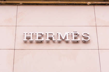 hermes: FRANKFURT GERMANY - OKTOBER 24, 2015: Hermes shop at Frankfurt,Germany - Hermes is a French manufacturer established in 1837 specialising in leather, accessories perfumery and luxury goods