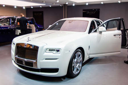 wraith: FRANKFURT, GERMANY - SEP 23: Rolls Royce Wraith at the IAA motor show on Sep 23, 2015 in Frankfurt. More than 1.000 exhibitors from 35 countries are present at the worlds largest motor show